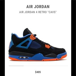 Other - 🅿️FINAL PRICE DROP🎃 JORDAN RETRO 4 CAVS